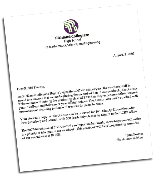 Pta End Of Year Letter